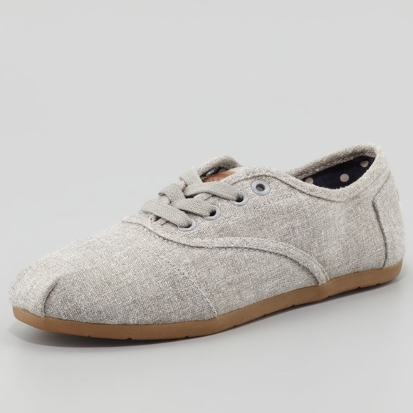 Toms Shoes   Toms Grey Lace Up   Poshmark